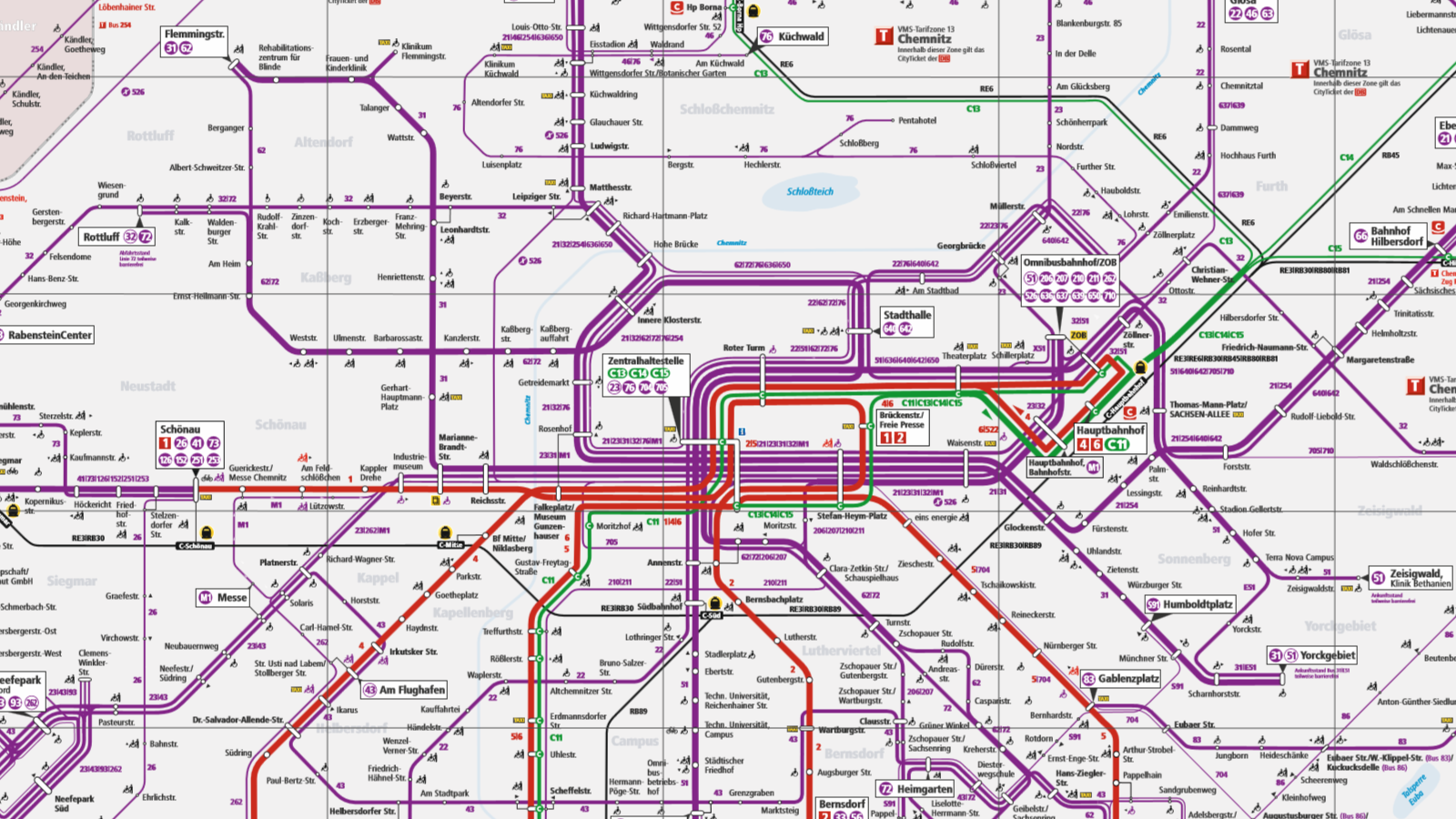 Netzplan CVAG