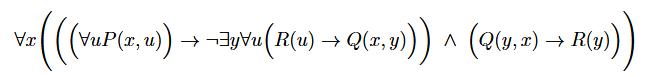 Prädikatenlogische Formel
