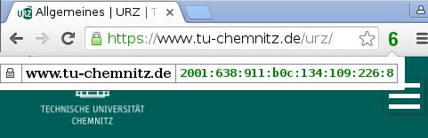 IPv6-anzeige im Webbrowser