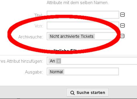 Screenshot Archiv-Suche