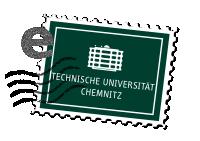 Briefmarke mit TU-Logo
