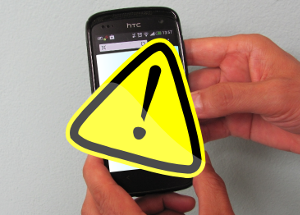Warnzeichen vor Handy