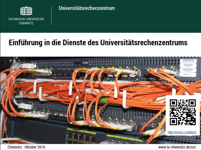 erste Seite der URZ-Einführungsfolien