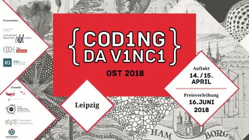 Werbung für Coding da Vinci Ost in Leipzig