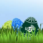 Osterhuhn mit Eiern