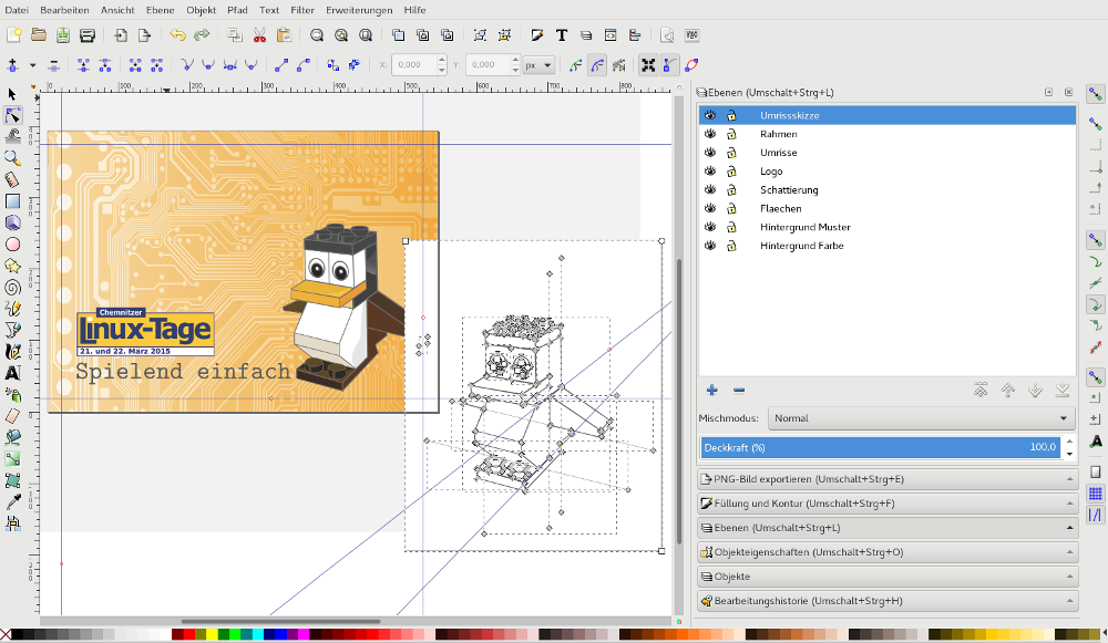 Inkscape zur Erstellung der Grafik für die CLT 2015