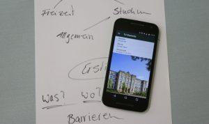 Smartphone mit TUC App