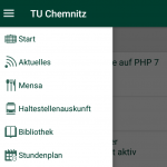 Screenshot TUC App