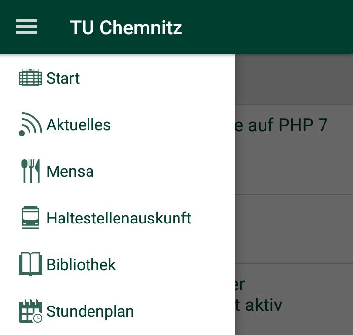 Neues von der TU Chemnitz App