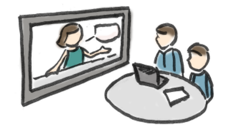 Skizze Videokonferenz