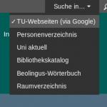 Screenshotausschnitt Suche
