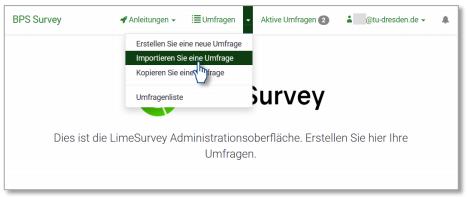 Umfrage Importieren