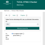 Screenshot des HTML Checkers