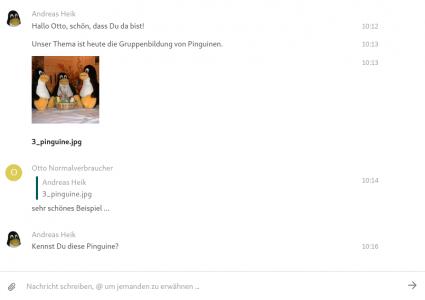 TUCcloud-Chat: Inhaltsfenster