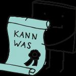Figur Pixel hält eine Urkunde